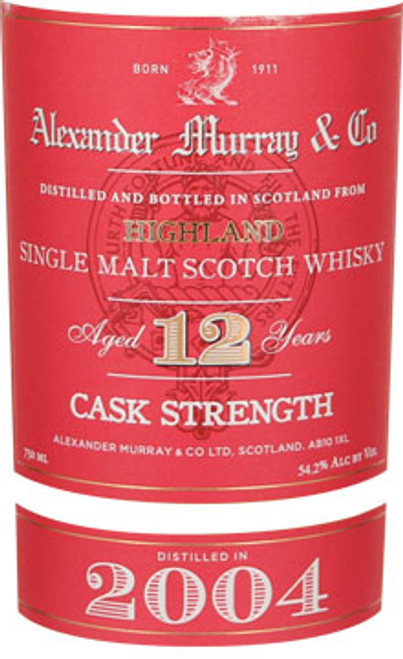 Alexander Murray & Co. 12 Year Old Highland Single Malt Scotch Whisky