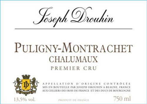 Drouhin Puligny-Montrachet 1er cru Chalumaux 2014
