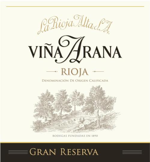 La Rioja Alta Rioja Viña Arana Gran Reserva 2014