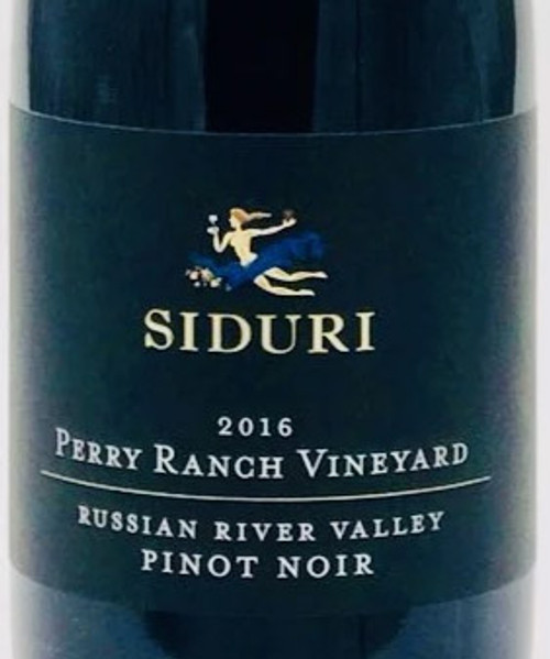 Siduri Pinot Noir Russian River Valley Perry Ranch Vineyard 2016