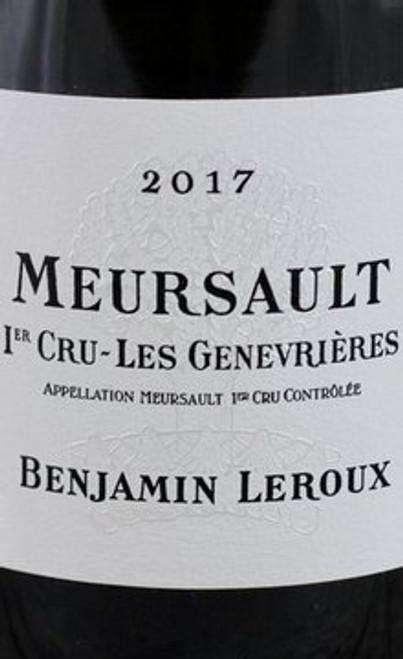 Leroux/Benjamin Meursault 1er cru Genevrières 2017