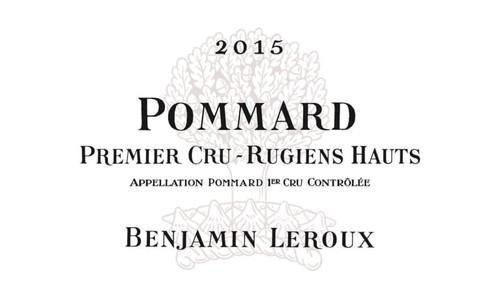 Leroux/Benjamin Pommard 1er cru Les Rugiens Hauts 2015