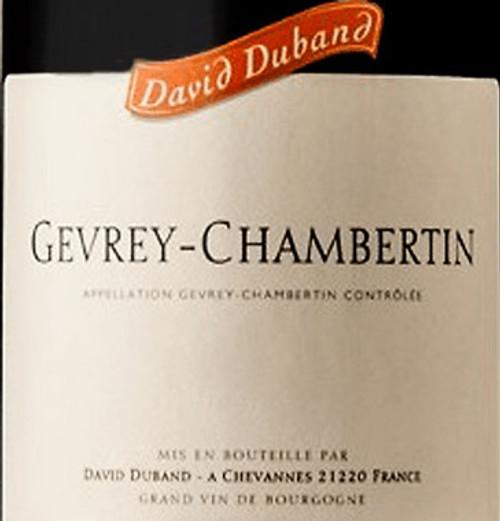 Duband/David Gevrey-Chambertin 2017