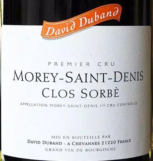 Duband/David Morey-St-Denis 1er cru Clos Sorbé 2017