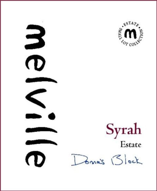 Melville Syrah Sta. Rita Hills Donna's Vineyard 2018