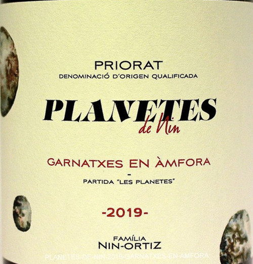Nin-Ortiz Planetes de Nin Priorat Garnatxes en Àmfora 2019
