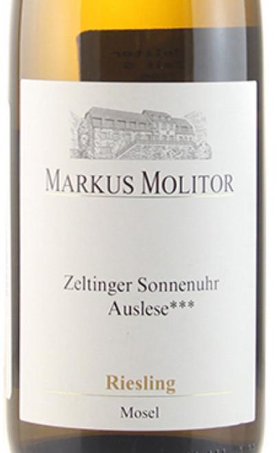 Molitor/Markus Riesling Auslese*** Zeltinger Sonnenuhr Gold Cap 2017