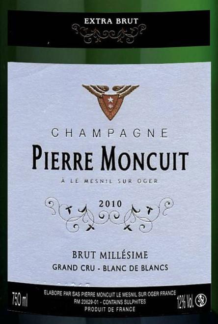 Moncuit/Pierre Extra Brut Blanc de Blancs Champagne Grand Cru 2010