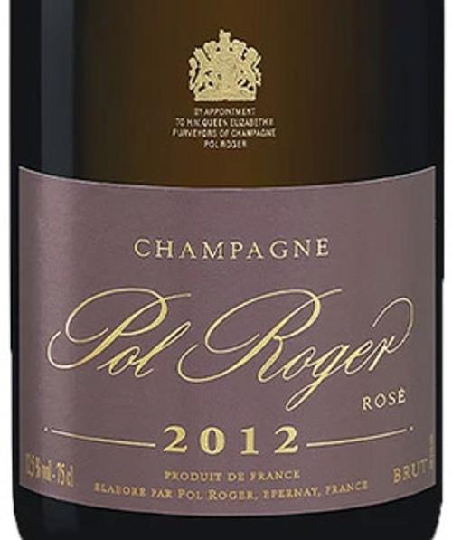 Pol Roger Brut Rosé Champagne 2012