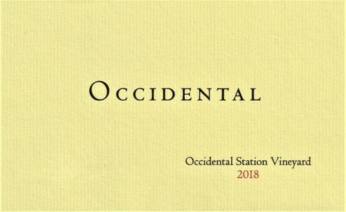 Occidental Pinot Noir Occidental Station Vineyard 2018