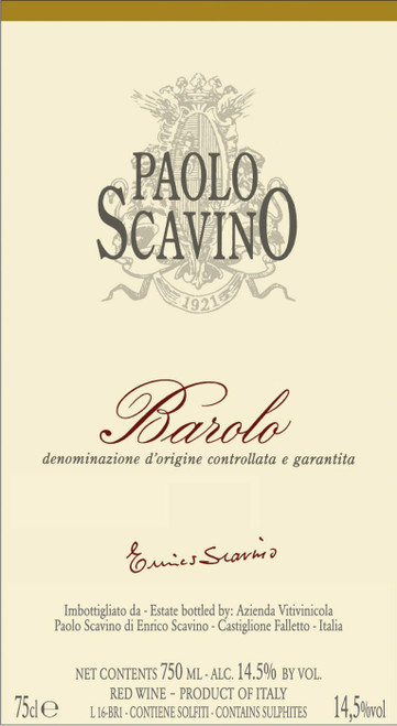 Scavino Barolo 2016 375ml