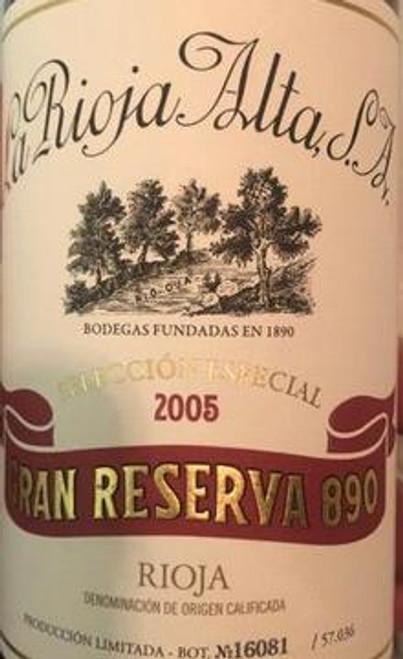 La Rioja Alta Rioja Gran Reserva 890 Selección Especial 2005