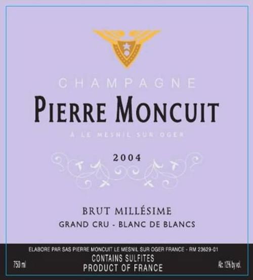 Moncuit/Pierre Brut Blanc de Blancs Champagne 2004
