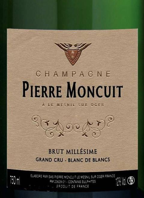 Moncuit/Pierre Brut Blanc de Blancs Champagne Grand Cru 2008