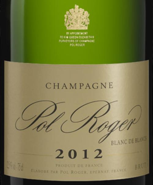 Pol Roger Brut Blanc de Blancs Champagne 2012