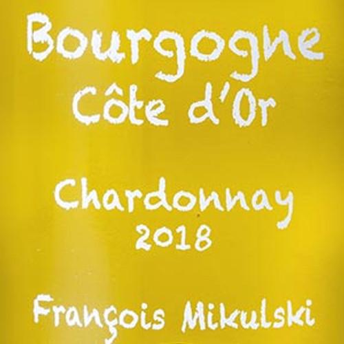 Mikulski/François Bourgogne Côte d'Or Chardonnay 2018