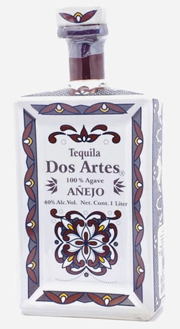 Dos Artes Añejo Tequila (ceramic square bottle) 1L
