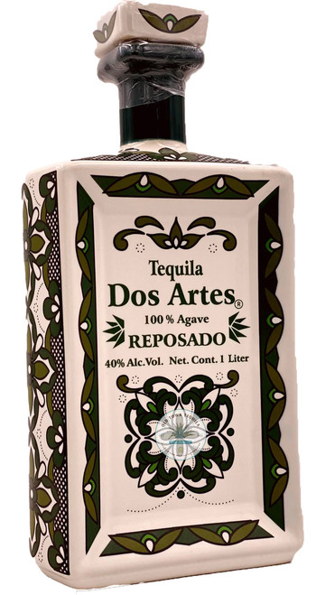 Dos Artes Reposado Tequila (ceramic square bottle) 1L