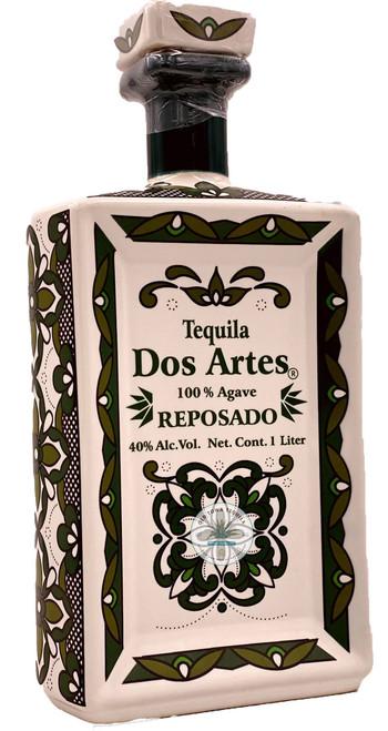 Dos Artes Reposado Tequila (ceramic square bottle) 1L