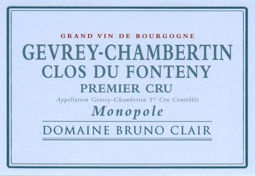 Clair/Bruno Gevrey-Chambertin 1er cru Clos du Fonteny 2017
