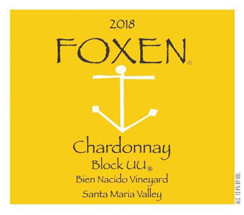 Foxen Chardonnay Santa Maria Valley Bien Nacido Block UU 2018