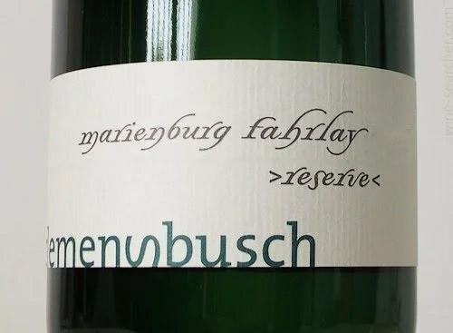 Clemens Busch Riesling Marienburg Fahrlay Reserve 2015