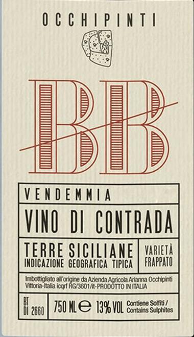 Occhipinti Vino di Contrada BB Bombolieri 2017