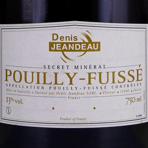 Jeandeau/Denis Pouilly-Fuissé Secret Minéral 2017