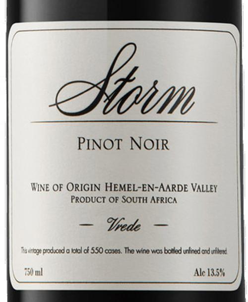Storm Wines Pinot Noir Vrede Hemel-en-Aarde Valley 2016