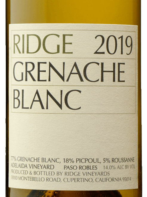 Ridge Grenache Blanc Paso Robles Adelaida Vineyard 2019