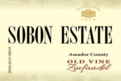 Sobon Estate Zinfandel Amador County Old Vine 2018