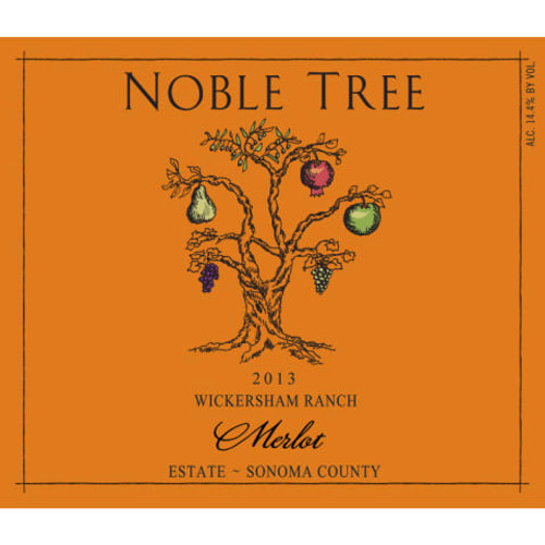 Noble Tree Merlot Sonoma County Wickersham Ranch 2013