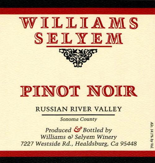 Williams-Selyem Pinot Noir Russian River Valley 2019