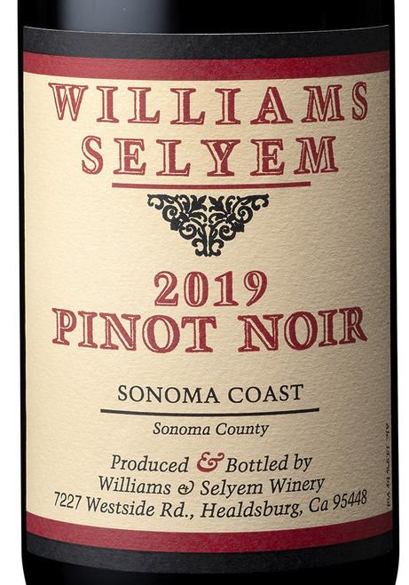 Williams-Selyem Pinot Noir Sonoma Coast 2019