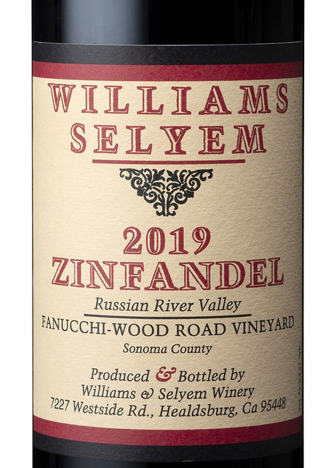 Williams-Selyem Zinfandel Russian River Valley Fanucchi-Wood Road 2019