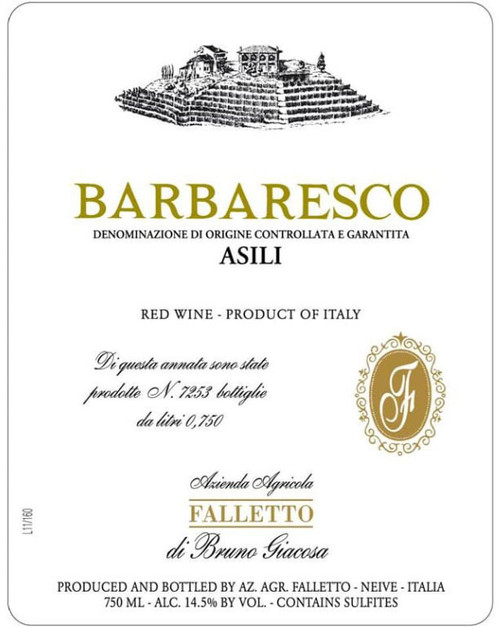 Giacosa/Bruno Barbaresco Asili 2017