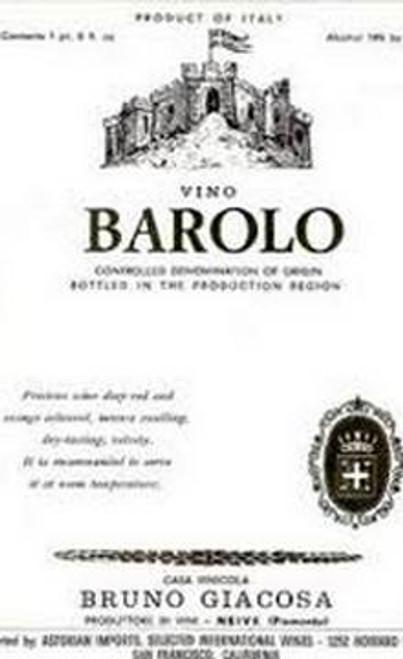 Giacosa/Bruno Barolo 2016