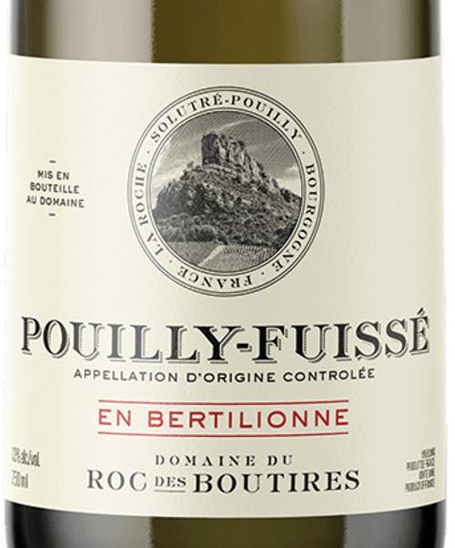 Roc des Boutires Pouilly-Fuissé en Bertilionne 2018