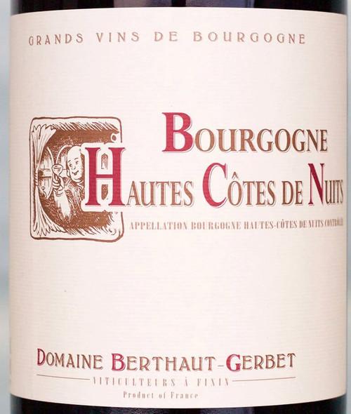 Berthaut-Gerbet Bourgogne Hautes-Côtes de Nuits Rouge 2018