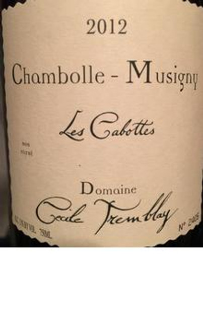 Tremblay/Cécile Chambolle-Musigny Les Cabottes 2012