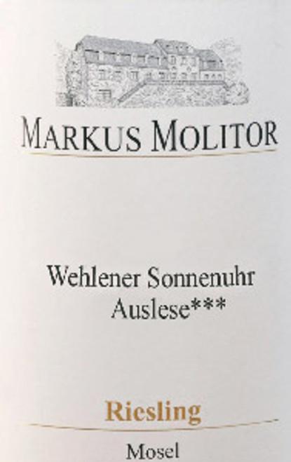 Molitor/Markus Riesling Auslese*** Wehlener Sonnenuhr Gold Cap 2018