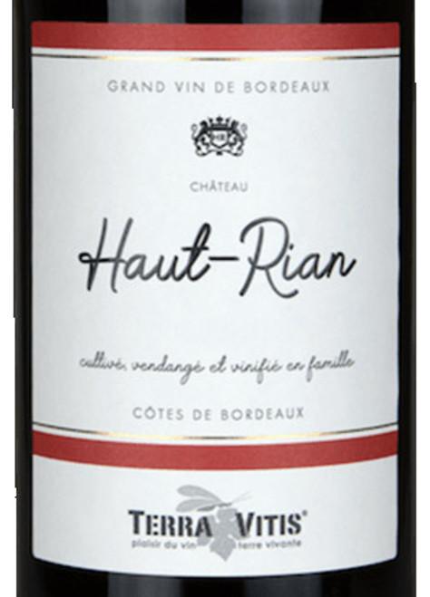 Haut Rian Côtes de Bordeaux Rouge 2016