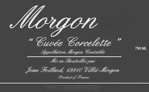 Foillard/Jean Morgon Corcelette 2019
