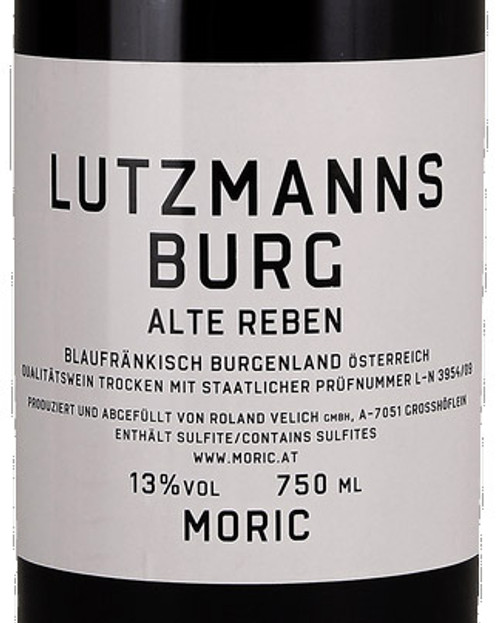 Moric Blaufränkisch Burgenland Lutzmannsburg Alte Reben 2017