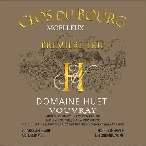 Huët Vouvray Moelleux le Clos du Bourg Première Trie 1990