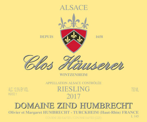 Zind-Humbrecht Riesling Alsace Wintzenheim Clos Häuserer 2017