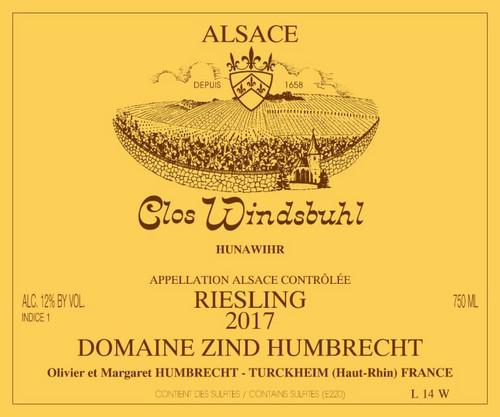 Zind-Humbrecht Riesling Alsace Hunawihr Clos Windsbuhl 2017