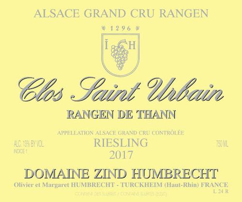 Zind-Humbrecht Riesling Grand Cru Rangen de Thann Clos St-Urbain 2017