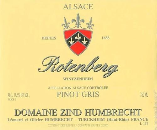 Zind-Humbrecht Pinot Gris Rotenberg 2017