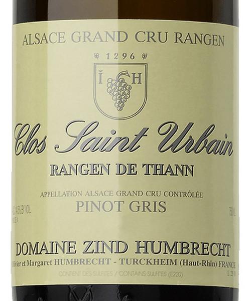 Zind-Humbrecht Pinot Gris Grnd Cru Rangen de Thann Clos St-Urbain 2016
